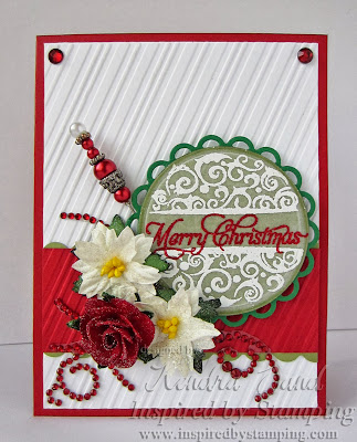 Inspired by Stamping, Kendra Sand, Festive Frames, Elegant Christmas Sentiments, Christmas Cards