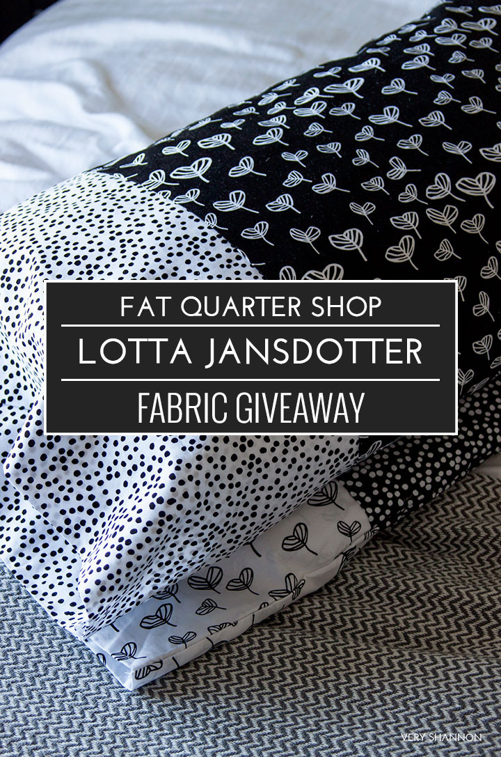 Lotta Jansdotter Sylvia Fabric Giveaway from Fat Quarter Shop // VeryShannon.com