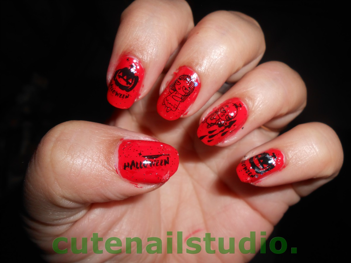 Cute nails: NBBN theme post :Halloween and Fall.