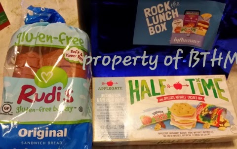 #rockthelunch box influenster vox box rudis bread and half time lunch kit