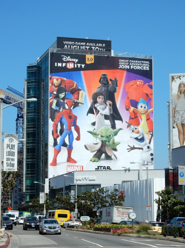 Giant Disney Infinity 3 video game billboard