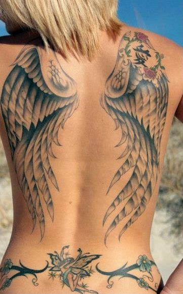 pictures of angel wings tattoos