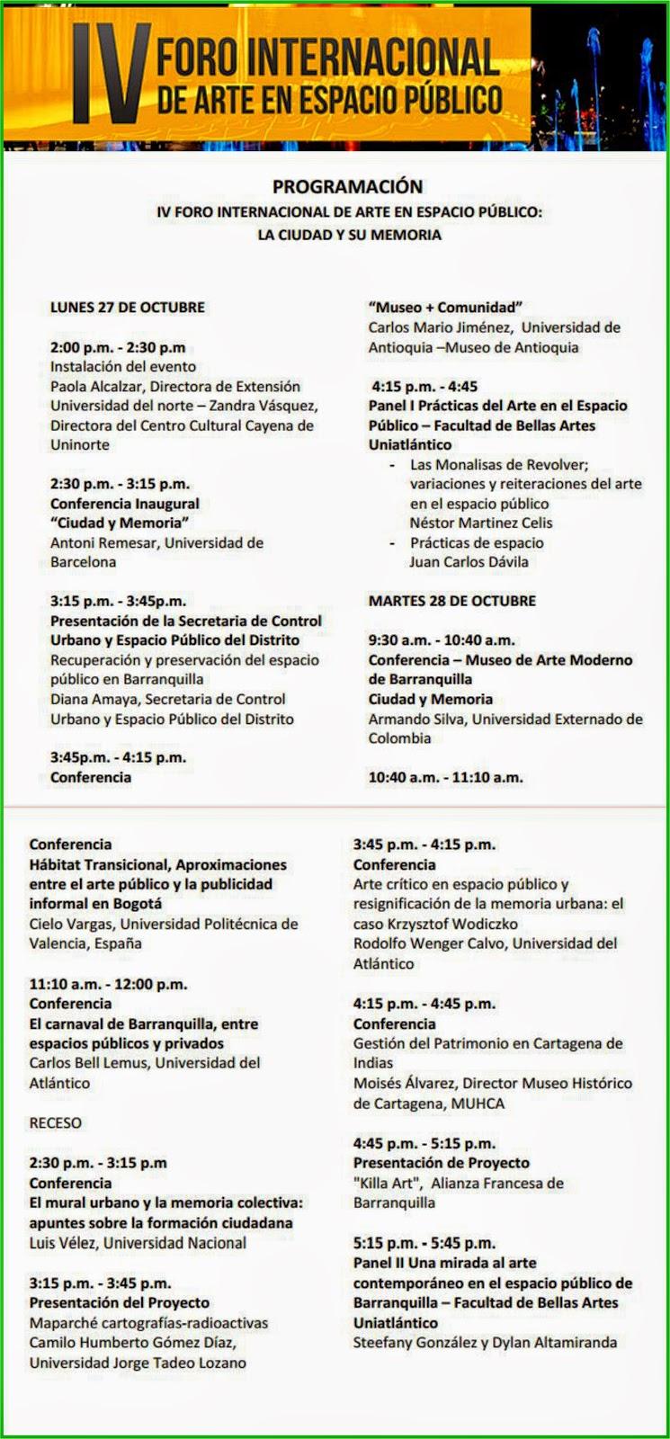 programación_foro_espacio_público_uninorte_la-ciudad-y_su_memoria_vamosenmovimiento.blogspot.com_