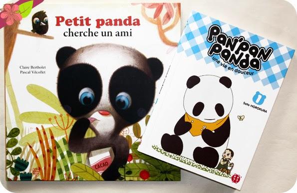 Petit panda cherche un ami et Pan'pan panda, une vie en douceur