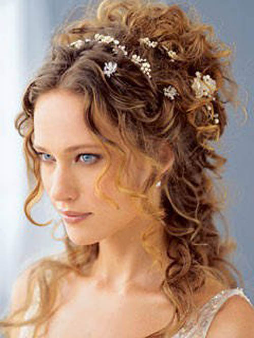 Long Wedding Hairstyles Half-Up