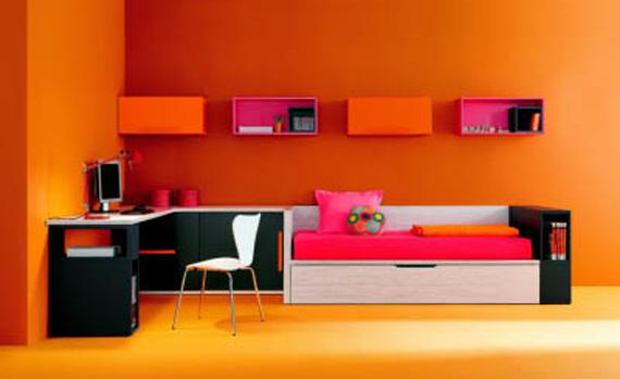 Moderne des idées chambre orange ~ Design Interieur France