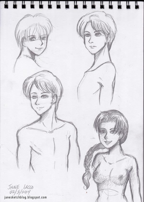 Dibujos de pechos estilo manga