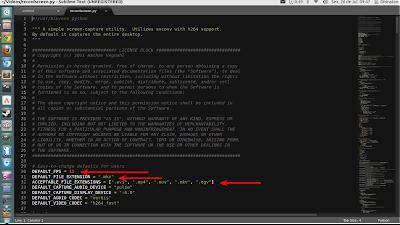 Recordscreen.py configuração