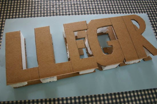 DIY manualidad letras decorativas