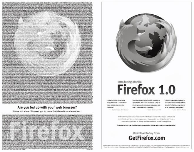 Anuncio de prensa de Mozilla Firefox