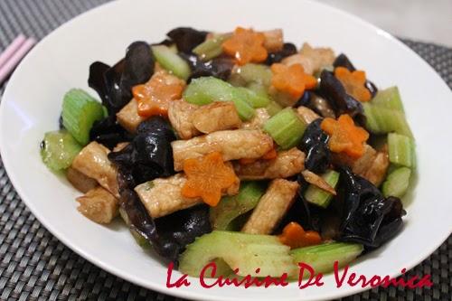 La Cuisine De Veronica 西芹雲耳炒魚餅