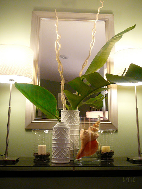 focal point styling  decorating with faux  u0026 fresh palm fronds