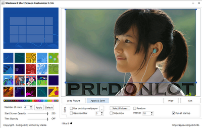 Windows 8 Star Screen Costumizer 1.3.6