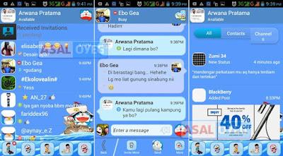 Mod BBM Tema Doraemon
