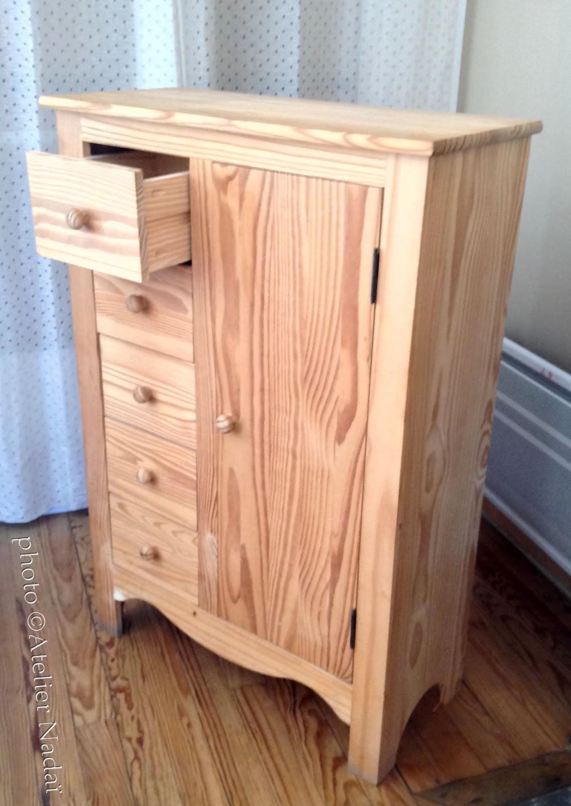 commode bois brut peindre. Black Bedroom Furniture Sets. Home Design Ideas