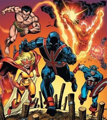 Dibujo de Los Invasores-Marvel