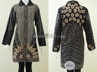 Foto Baju Atasan Batik Muslim Wanita