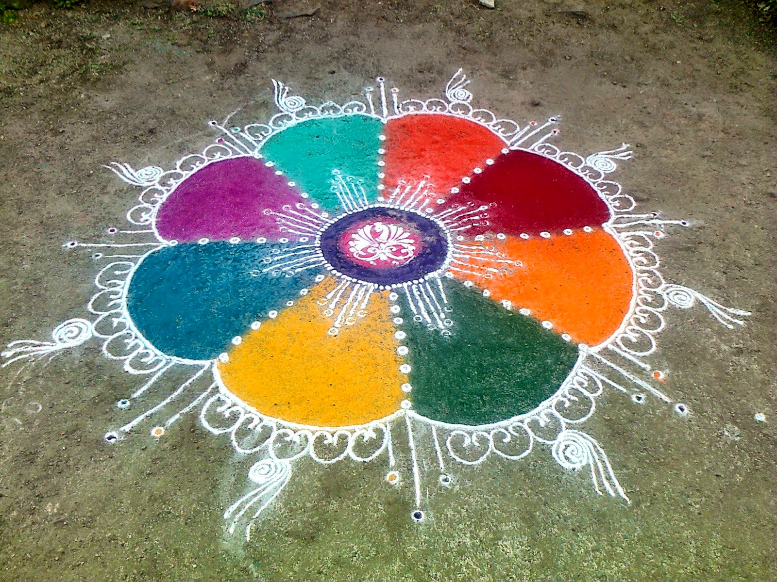 Easy Rangoli Designs 14