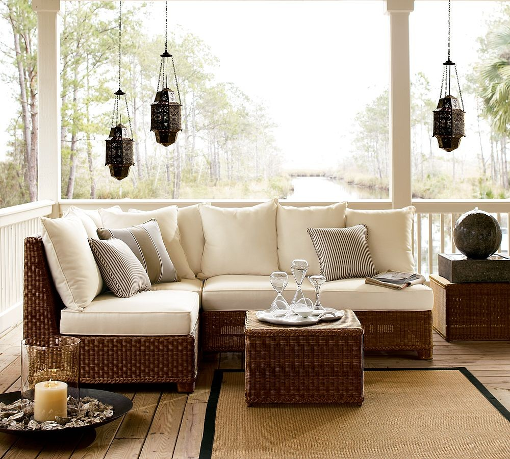 Outdoor garden furniture designs by pottery barn for Outside design ideas