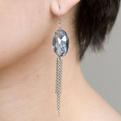 grayling jewelry, classic jewelry, crystal earring