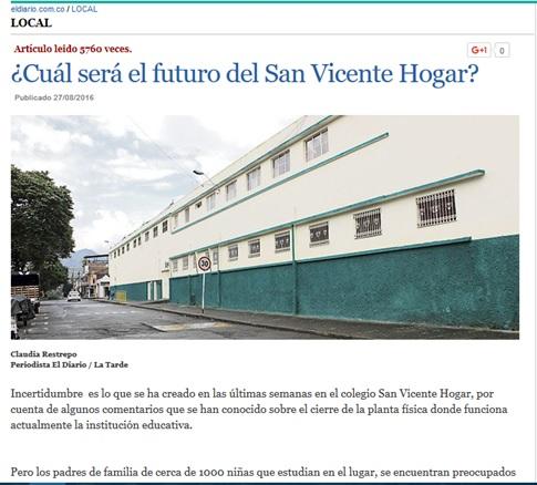 ¿Cuál será el futuro del San Vicente Hogar?