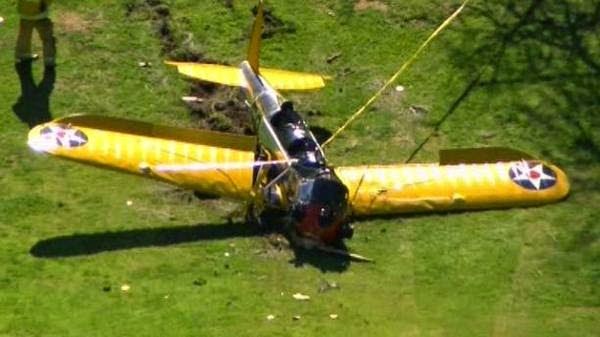 avion estrellado harrison ford indiana campo de golf santa monica