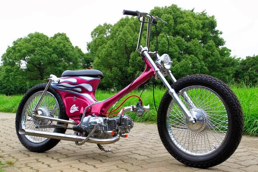 american style, cooper style, Honda, long motorcycle