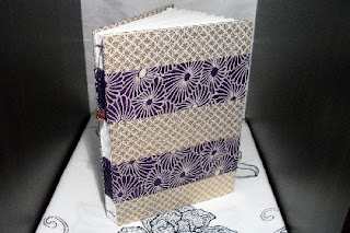 Journal or Sketchbook Bound with Japanese Fabric