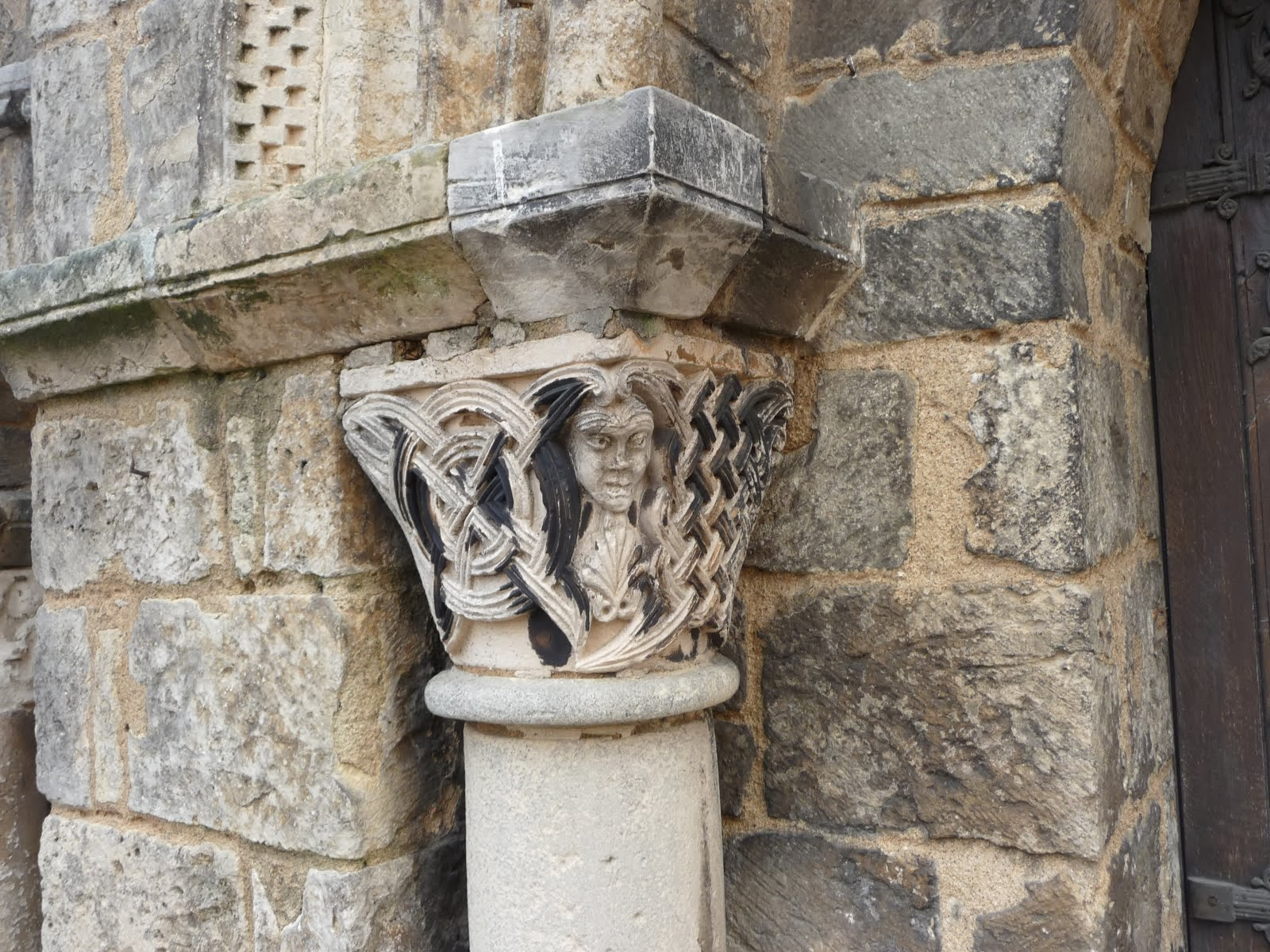 Detail from the abbey church St Benoit