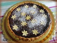 Crostata al cioccolato stellata