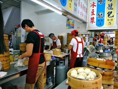 Inside Gong Zheng Bao Zi Kitchen at Hualien