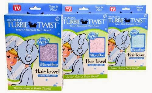 Buy Turbie Twist on Amazon and dry long hair fast and easy