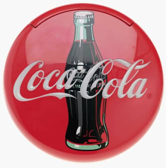 Coca-Cola Blinking Disc Telephone