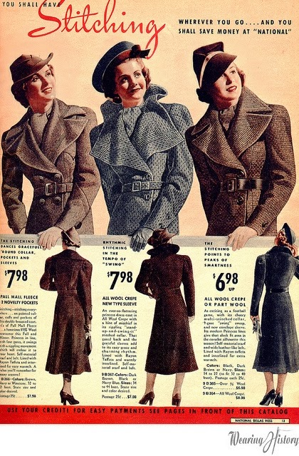 Vintage 1930s Coats from Catalogs and Magazines