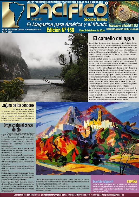 Revista Pacífico Nº 156 Turismo