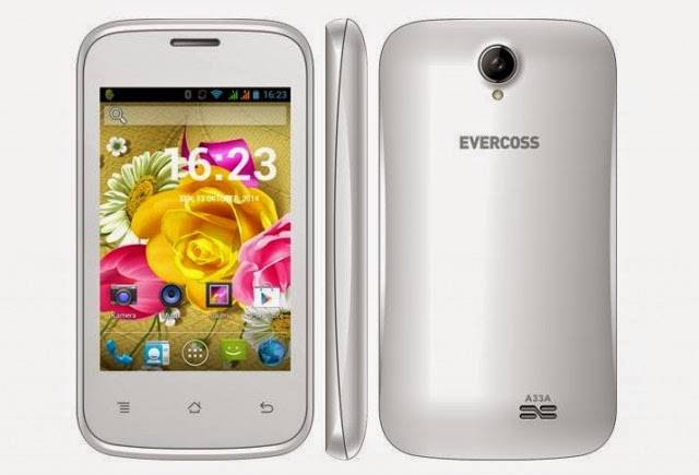 Evercoss A33A, Ponsel Android KitKat Untuk Entry Level Harga 400 Ribuan