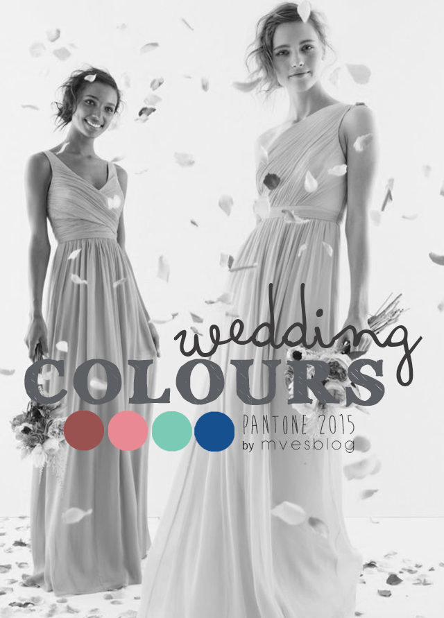Tendencia de colores para bodas 2015