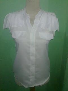 Blus Putih Krah Sanghai