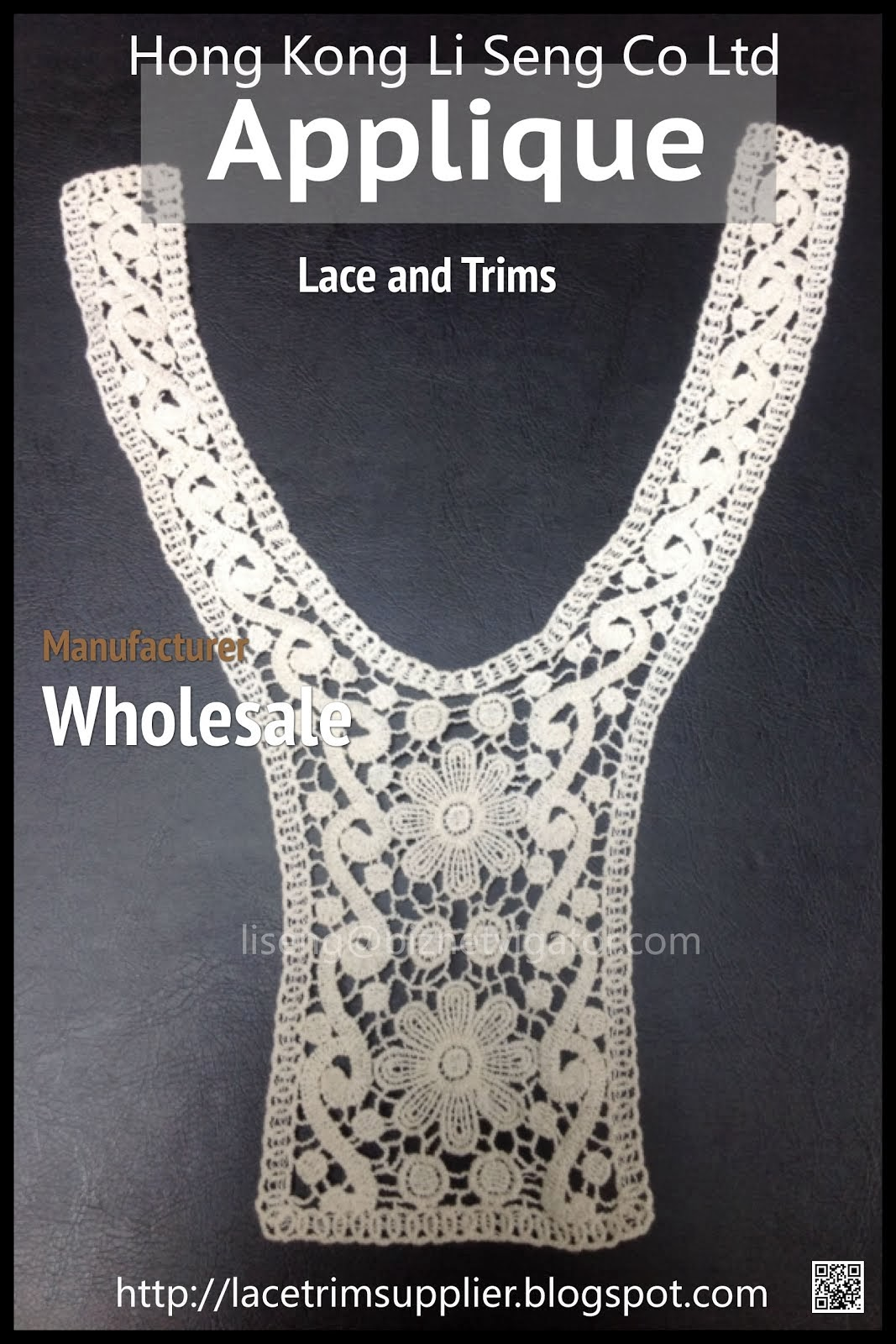 Cotton Lace Applique Manufacturer - Hong Kong Li Seng Co Ltd