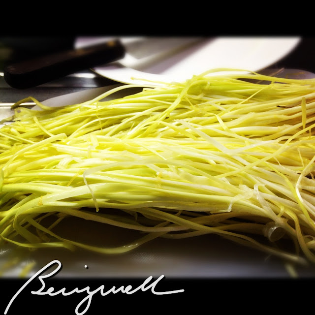 Cooking Yellow Chives