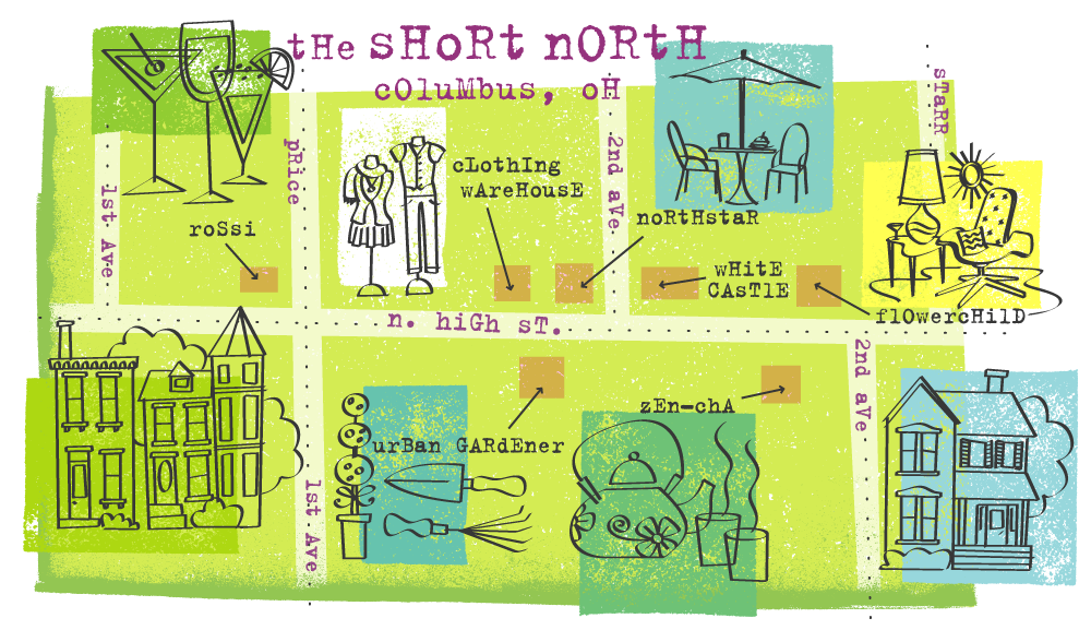 Draw Maps: The Short North in Columbus, Ohio