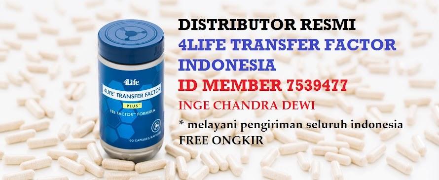 DISTRIBUTOR RESMI 4LIFE TRANSFER FACTOR ID MEMBER 7539477