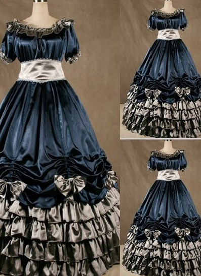 Gorgeous Bow and Ruffle Gothic Victorian Dress