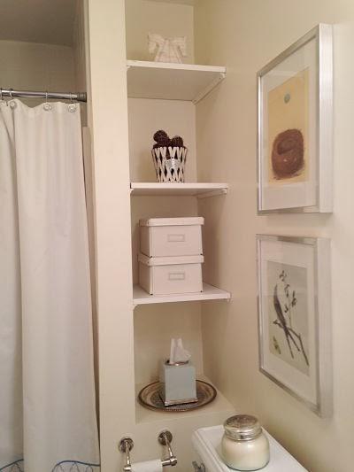 Bathroom Nook steffes in the house: painted bathroom nook