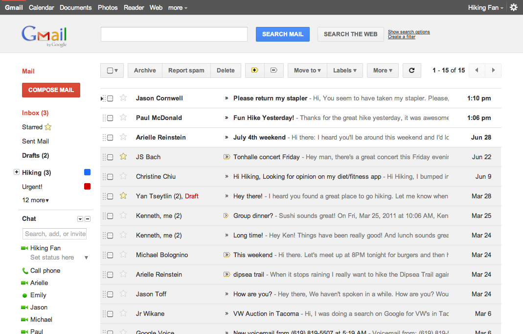Gmail Preview Theme