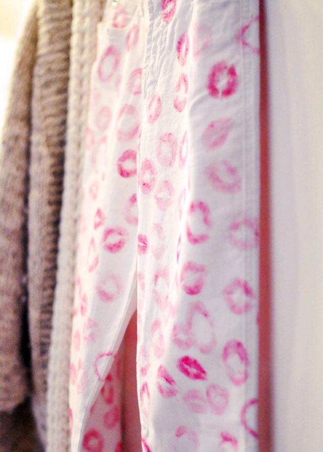 DIY Kiss Print Pants, Erin Fetherston