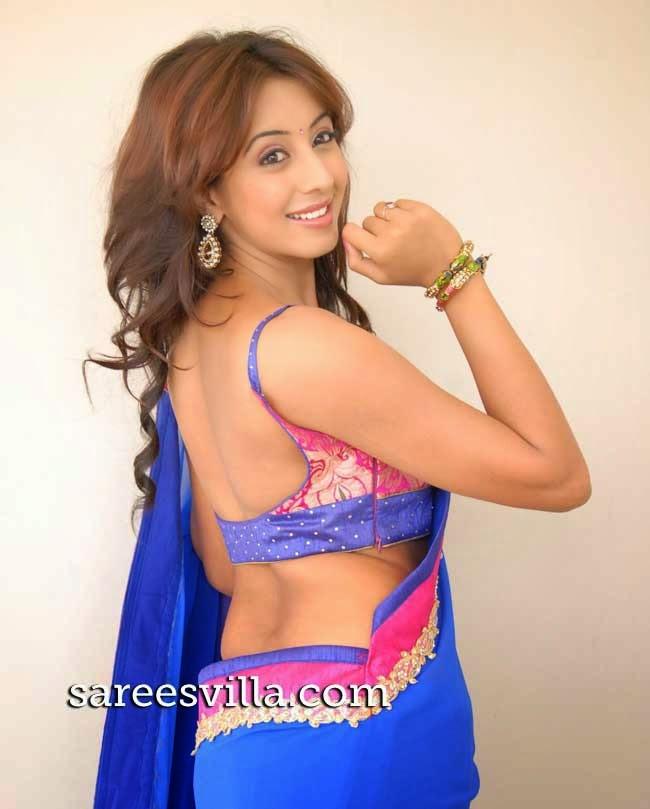 Sanjjanaa In Backless Blouse
