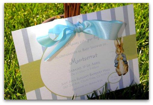 mkr creations: peter rabbit baby shower invitations, Baby shower invitations