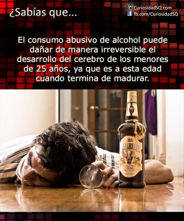 ¿Sabías que?: El consumo de alcohol puede dañar