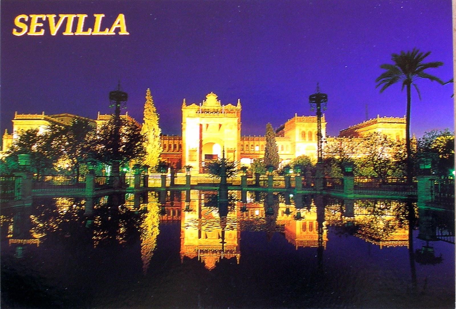 carte postale seville